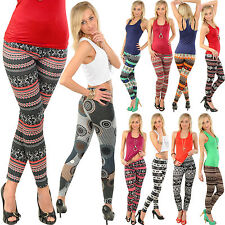 Sexy Winter Leggins Hose Norweger Rentier Aztec Leggings Jeggings Treggins
