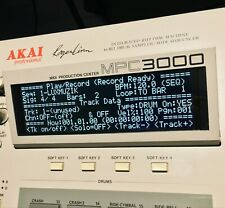 Akai MPC60 LUX (Negative) Tri-Axis Black LED Display !