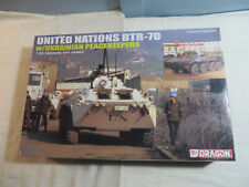 Dragon 1:35 United Nations BTR-70 w/ Ukranian Peacekeepers Model Kit Open 3530