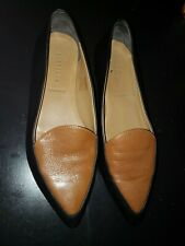 Flats ~ Loafers Two-tone Leather ~ Pointed Toe Italian ~ Womens Shoes ~sz  8
