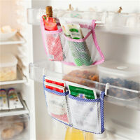 Kitchen Refrigerator Hanging Storage Bag Food Organizer Fridge Mesh Holder LD