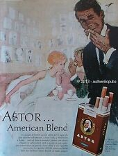 PUBLICITE CIGARETTES ASTOR AMERICAN BLEND TABAC BLOND DE 1964 FRENCH AD ART DECO