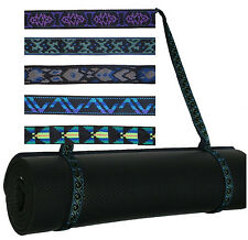 Durable Strap Sling Yoga Pilates Mat No Bag - Surfer stitch pattern