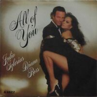 "JULIO IGLESIAS & DIANA ROSS 'ALL OF YOU' UK PICTURE SLEEVE 7"" SINGLE"