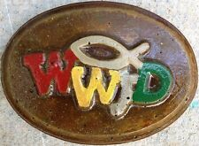 WWJD 7 plaque, stepping stone plastic mold, concrete mold, cement, plaster