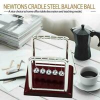 Newton Cradle Balance Stahlkugel Physik Wissenschaft Schreibtisch Pendel V8X8