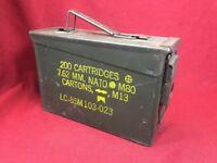 "VINTAGE MILITARY Metal AMMUNITION Ammo Box Rusty Sturdy Storage 11""x7""x4"""