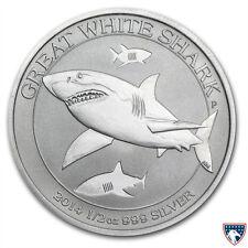2014 1/2 oz Australian Silver Great White Shark Coin (BU) - SKU 0026