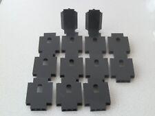 Lego 4444 + 2345 # 13x Paneele  2x5x6 - 3x3x6 Schwarz 6086 6090