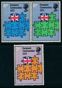 1972 GB BRITAIN'S ENTRY INTO EEC SET OF 3 FINE MINT MNH SG919-SG921