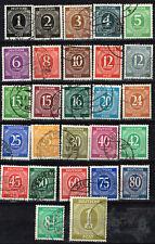 Germany post WW2 Provisional Uniform  27 stamps set 1946 used #530-556 CV$60