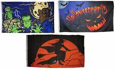 3x5 Happy Halloween 3 Pack Flag Wholesale Set #6 Combo 3'x5' Banner Grommets