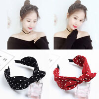 Women Headband Twist Hairband Bow Knot Cross Tie Cloth Headwrap Hair Band Hoop