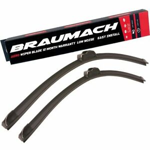 Wiper Blades Aero For Ford F250 UTE 1981-1993 FRONT PAIR