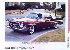 1961 Chrysler 300 G Letter 413 ci 375 hp Info/Specs/photo prices production 11x8