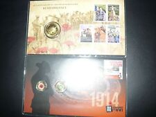 2008 $1 and 2014 Remembrance Day PNC Gold Overprint Limited Edition--a pair