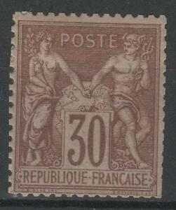 """FRANCE STAMP TIMBRE 69 """" TYPE SAGE 30c BRUN CLAIR 1876 """" NEUF x TB A VOIR  N768E"""
