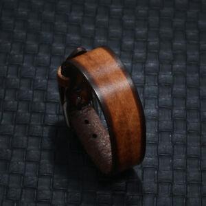 Punk Mens Women Leather Bracelet Bangle Wristband Surfer Wrap Clasp Cuff Jewelry