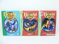 Lot de 3 livres BEAST QUEST Dragon Chaudron... Bibliotheque verte 2000's LDVELH