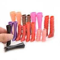 Chaussures de bottes à talons hauts de 8 paires pour une poupée de Barbie de 6hk