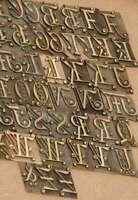 Prägeschrift 19 mm Messingschrift Buchbinder Messing Buchbinden Vergoldepresse