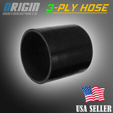 89mm 3 1/2″ STRAIGHT COUPLER SILICONE HOSE TURBO INTAKE INTERCOOLER PIPE BLACK
