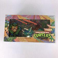 1992 Cave-Turtle Leo & Dingy Dino TMNT Teenage Mutant Ninja Turtles New