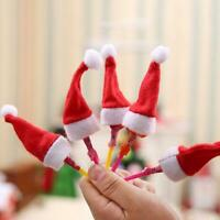10X Mini Santa Claus Hat Christmas Party Xmas Decor Holiday Lollipop Top Lot