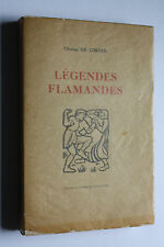 Charles de Coster - Legendes Flamandes - seltene nummerierte Ausgabe 1926