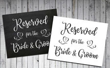 Wedding Decor Reserved for The Bride & Groom Print, 8x10 Cardstock Print Only