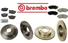 Brembo Complete Rear Front Brake Rotors & Pads for Nissan Stanza 90-92 L4 2.4L