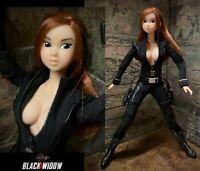 Marvel Avengers BLACK WIDOW 1/6 Custom OOAK action figure Volks Momoko Sexy