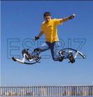 Men Kangaroo Bouncing Shoes Jumping Stilts FitnessExercise 110-150lbs Yellow