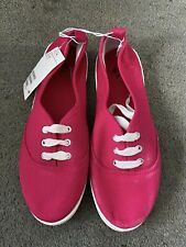 Brand New Ladies Pink H&M Flat Plimsole Shoes Size 4