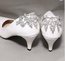 Rhinestone Crystal Wedding Diamante Dangle Crystal Shoe Charm Clips Pair
