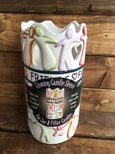 "NIB Glowing Candle Sleeve #45009 for up to 4"" D Jar Candle Contemporary People"
