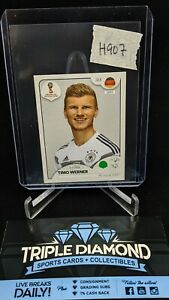 Lot(2) 2018 Panini World Cup Russia Timo Werner Sticker Pink Back #439 H907
