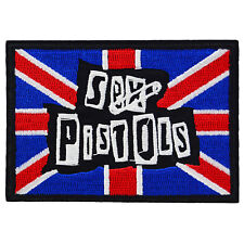 Sex Pistols Patch Punk Iron Sew Band Logo Jacket Retro Music Rock Anarchy Sid