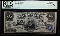 1908 $10 Silver Certificate PCGS Currency Choice Very Fine 25 PPQ EPQ FR.304