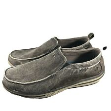 Skechers Relaxed Fit Drigo Men's Sz 13 Charcoal Slip On Loafers/Shoes 64654 CHAR