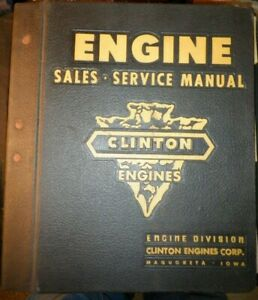 Clinton Engines Service Manual Parts Catalog Price Lists 1955-1972 Big Thick