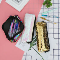 Fashion Women Girls Double Color Sequins Pen Bag Storage Bag Ladies Comestic Bag