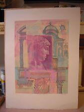 "Richard Hall Original Color Monotype 1/1 ""A Classic Facade #29"""