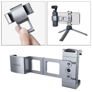 """Metal Smartphone Clamp W Cold Shoe 1/4""""Thread for DJI  2 Accessories"""