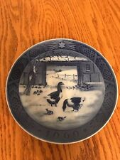 "Royal Copenhagen 1969 Christmas Collector Plate ""In The Old Farmyard"" Kai Lange"