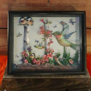 Paper Hummingbirds Framed Artwork - One Of A Kind
