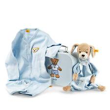 Steiff 240508 Geschenkset gute Nacht Hund Schmuset blau
