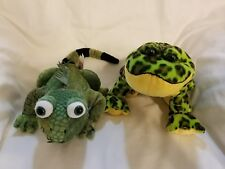 GANZ WEBKINZ Iguana Lizard Green + Bullfrog Plush Stuffed Animal Toy No Codes