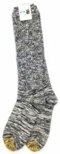 $30 Gold Toe Women 1 Pair-Pack Gray Black White Cotton Crew Boot Socks Shoe 6-9