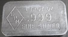 1990 EPM-1 EMPIRE PRECIOUS METALS ART BAR .999 FINE SILVER 1 TROY OZ, KIDD 6TH